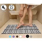 Yimobra Non Slip Bath tub Shower Mats, Adjustable Size XL 29 X 15.5 Inches, Powerful Suction Cups, Special Drain Holes, Machine Washable, Bathroom Shower Stall Mat, First Quality Material