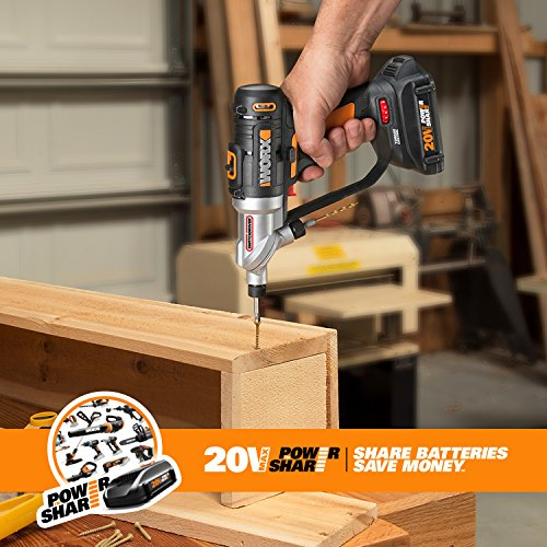 WORX Switchdriver 2-in-1 Cordless Drill and Driver with Rotating Dual Chucks and 2-Speed Motor with Precise Electronic Torque Control – WX176L