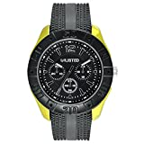Unlisted Three-Hand Black Silicone Men's watch #UL1322