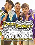 The Best Lyrics Of Jonas Brothers - Stress Relieving Coloring Book: Collection Of Good Songs And Lyrics By Pop Rock Band Jonas Brothers