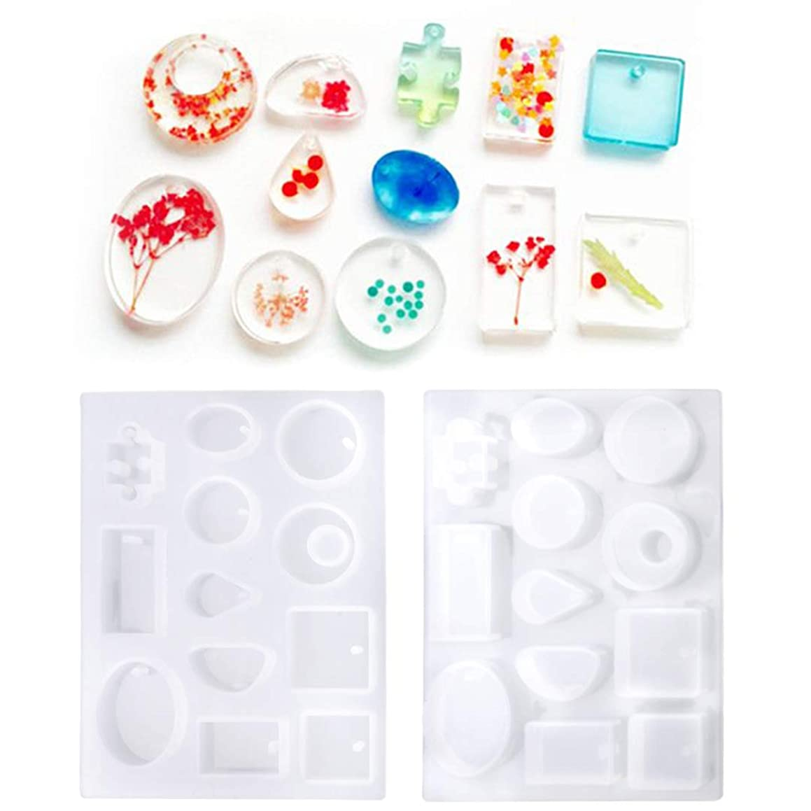 DIY Silicone Mold Jewelry with Hanging Hole for Craft Making Mould Handmade Tool