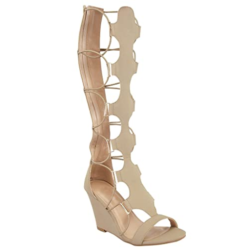 reputable site buy online the cheapest Knee High Gladiator Heels: Amazon.com