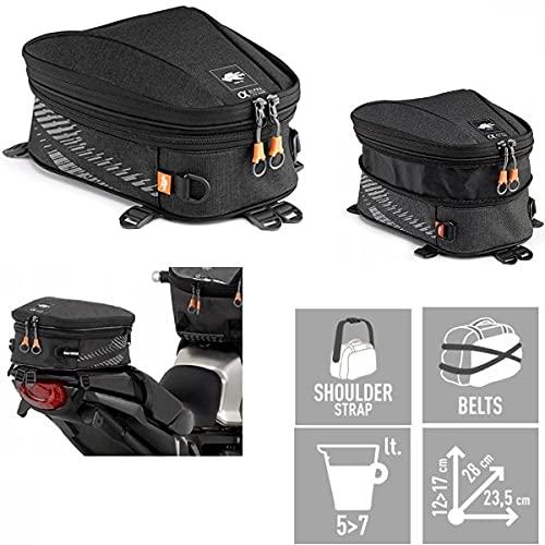 Compatible con Benelli 491 GT Kat SILLÍN Bolsa SILLÍN para Moto Scooter Bolsa para Rack Kappa FIJACIÓN Universal con 3 Correas Regulables