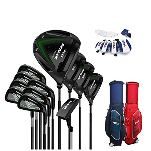 Cheapest Prices! LHHlucky 12 Piece Men's Complete Golf Club Complete Set with Bag Graphite/Steel Set...