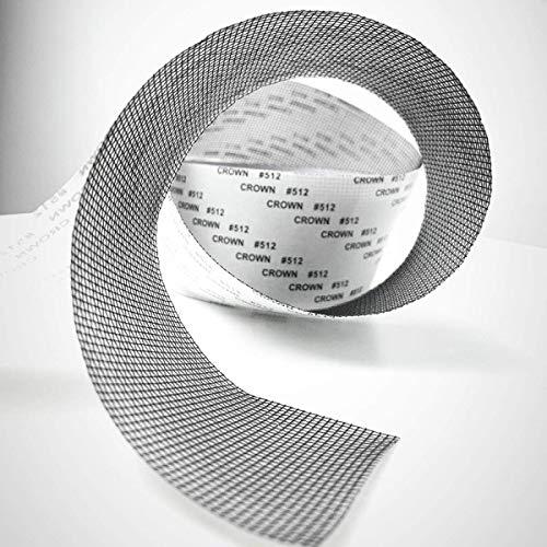 Reparación de ventanas y puertas, cinta adhesiva para mosquiteras, cinta de malla de tela de fibra de vidrio con sello adhesivo resistente al agua 5 cm x 200 cm (gris)