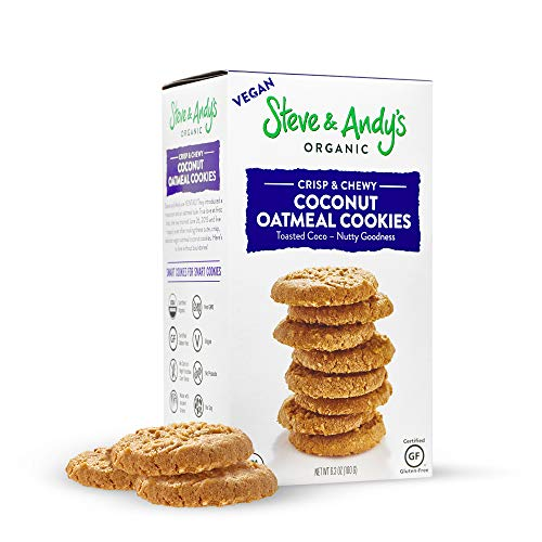 Soft and Chewy All-Natural Oatmeal Coconut Cookies, Gluten Free Cookies for Vegan Dessert, No Corn Syrup, No Tree Nuts, Kosher, and Non Gmo (Pack of 1) - Steve and Andy's