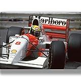 Box Prints Ayrton Senna F1 McLaren Motor Retro Sport