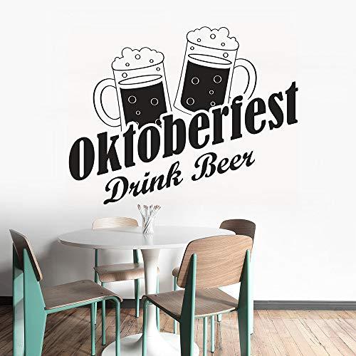wandaufkleber glitzer Oktoberfest Getränk Bier Bar Restaurant Dekoration Getränk Bier Fenster