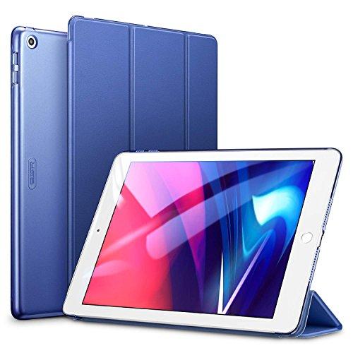 """ESR Funda para iPad 2017/Nuevo iPad 2018 de 9.7"""" Silicona [Auto-Desbloquear][Botones Protegidos] Función de Soporte de Cuero Sintético y Plástico Duro Smart Cover -Azul"""