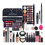 Kits de maquillaje, set de cosméticos todo en uno, set de regalo de maquillaje Kit de inicio completo, incluye sombra de ojos, brillo de labios, rímel, crema para ojos, lápiz de maquillaje, etc.