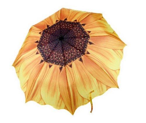 Pliable Compact Parapluie Pluie ou briller à double usage (Tournesol)
