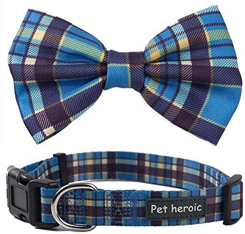 Pet Heroic hondenhalsband als vlinderdas, aanpasbare en comfortabele hondenband, small, medium en large, 3 verschillende stijlen, halsband geschikt voor katten