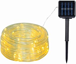 Solar Rope Lights Outdoor, 40ft 100 LED Solar Powered String Lights Waterproof & 8 Modes PVC Tube Copper Wire Fairy Lights...