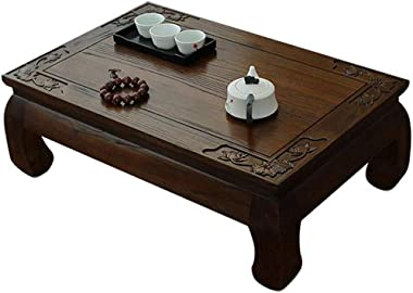 LXZDZ Wooden Coffee Table,Bay Window Table Tatami, Industrial Table for Living Room, Wood Look Accent
