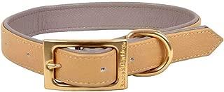 Flat Leather Dog Collar - L - Caramel - Boots & Barkley153;