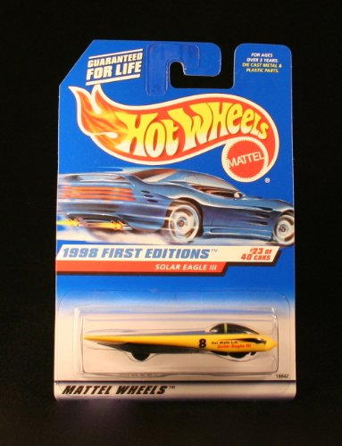 Hot Wheels 1998 First Editions: Solar Eagle III (#23 of 40) 1:64 Scale Collector Car #650 by Hot Wheels