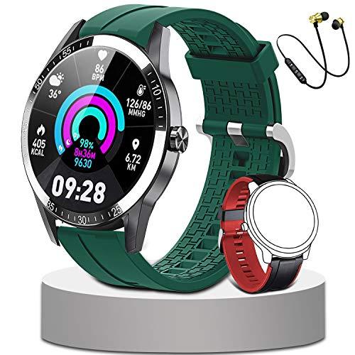 Smartwatch Orologio Intelligente Fitness Uomo Donna Smartband per Monitor da Polso Contapassi Activity Tracker Cronometro Cuffie Bluetooth Sport per Android iOS
