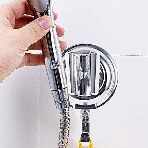 Duschhalter - ABS 360 Grad angebrachte verstellbare Duschkopf-Halterung für Badezimmerhalterung mit Saugnapf