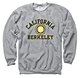 Shop College Wear University of California Berkeley 3 Color Seal Mens Straight Crew Sweatshirt- Grey