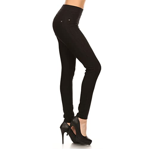 62d543e7262 Leggings Depot Premium Quality Jeggings Regular and Plus Soft Cotton Blend  Stretch Jean Leggings Pants w
