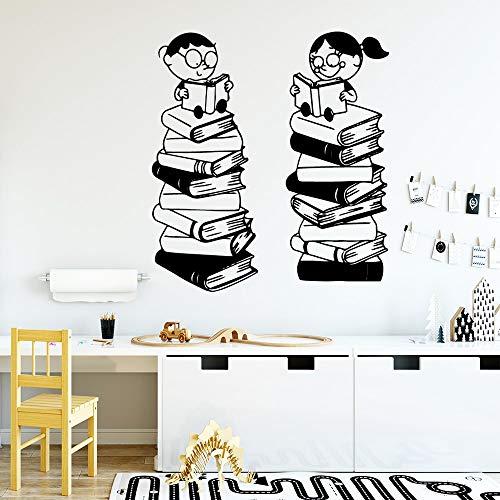 Libro de lectura creativo niño niña etiqueta arte vinilo adhesivo extraíble impermeable pared arte calcomanía etiqueta de fondo A2 43X51CM
