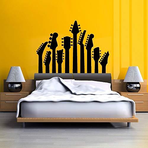 Gitarrenaufkleber Kopfteil Einzelbett von...