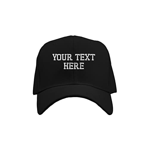 3550bcf9ea1f6 Personalize Your Custom Text On Unisex Adult Hook   Loop Acrylic Adjustable  Structured Baseball Hat Cap