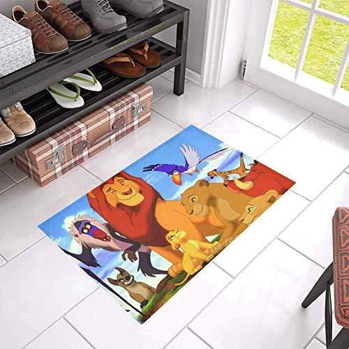 vrupi bambini personaggio cartoni animati personaggio cartoni animati modello to porta ta resistente tappetino ingresso antiscivolo animazione leone re modello della casa 40 * 60cm