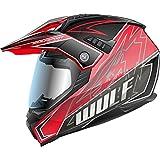Wulf Prima X Dual Sport Helmet XL Red