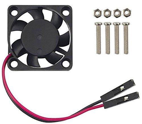 Easycargo Raspberry Pi Ventilador, 3,3–5v DC silencioso ventilador para Raspberry Pi 3B+, 3B, 2, B+, RetroFlag NESPI Funda 30mm