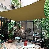 Garten Outdoor Sonnensegel -rechteckig,terassenüberdachung,gelb, Khaki, Weiß, Orange,sonnensegel...