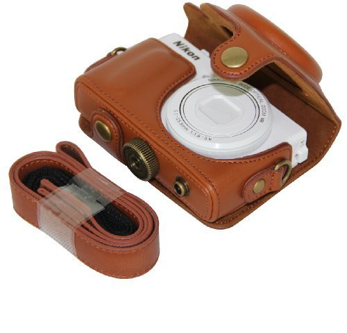 MegaGear Ever Ready - Funda de Piel para cámara Nikon COOLPIX P330, Nikon COOLPIX P340