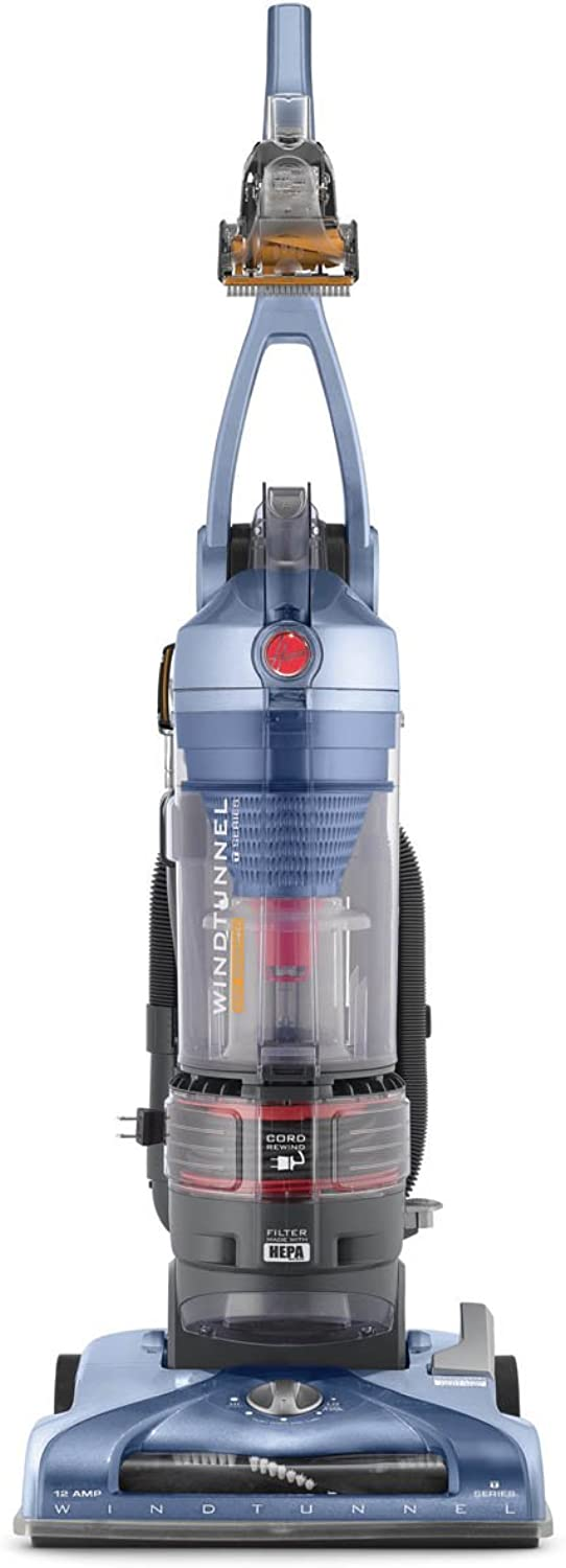 Hoover T-Series WindTunnel Pet Rewind Bagless Corded Upright Vacuum UH70210, bluee