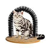 xinmao Pet Grooming Scratcher Brush Cat Arch Self Groomer Massager Groom Toy Cat Back Scratching Tool