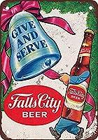 Fall City Beer Christmas 金属板ブリキ看板警告サイン注意サイン表示パネル情報サイン金属安全サイン