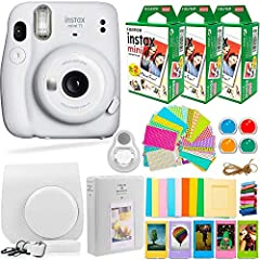 START SNAPPING IN SECONDS – You'll be the talk of the party and the center of attention with your new FujiFilm Instax Mini 11 Camera. It's simple to use, so anyone can easily achieve crystal clear, vibrant photos in no time. Plus, built-in flash and ...