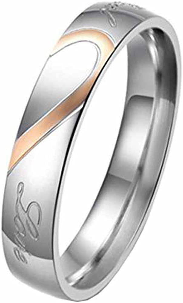Bystar Fashion Online limited product Jewelry 2 Max 41% OFF Color Stainless Love Heart Real Combine