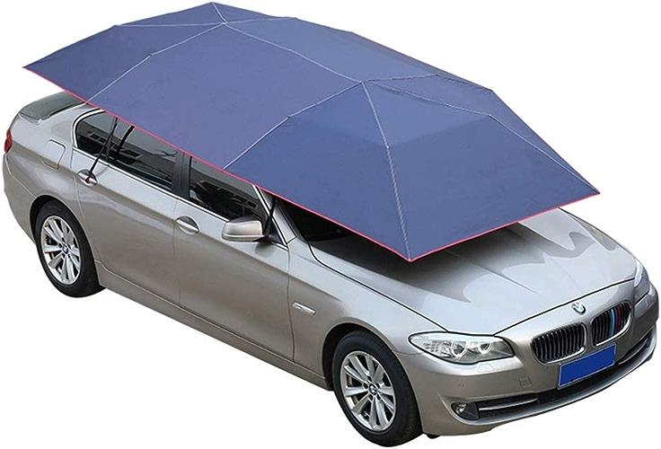 LIXIONG Tente De Voiture Parapluie De Plein Air Mobile Abri Voiture Portable des Voitures Prougeection Plié Parapluie Anti-UV Camping Pique-Nique, Bleu (Couleur   A, Taille   4.2x2.2m)