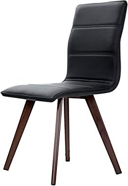 Artiss Leather Upholstery Dining Chairs Set of 2 - Black