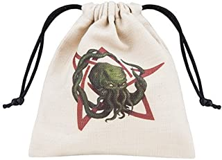Q WORKSHOP Call of Cthulhu Beige & Multicolor Dice Bag
