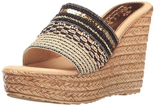 Sbicca Women's Source Wedge Sandal, Bronze, 9 B US