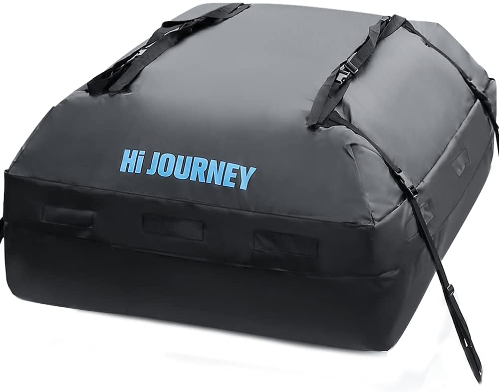 rabbitgoo Rooftop Cargo Carrier Waterproof Car Roof Top Cargo Bag with Heavy Duty Straps, Soft Shell Luggage Storage Bag for Vehicles with/Without Roof Racks, Large Capacity 15 Cubic Feet : Automotive