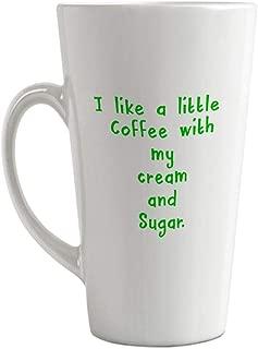 Style In Print Green I Like A Little Coffee with My Cream and Sugar Ceramic Latte Mug - 17 OZ