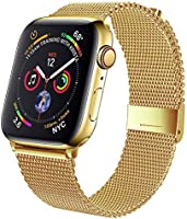 Geoumy Band Compatible with Sport Watch 38mm 40mm 42mm 44mm,Stainless Steel Mesh Loop Replacement for iWatch Series...