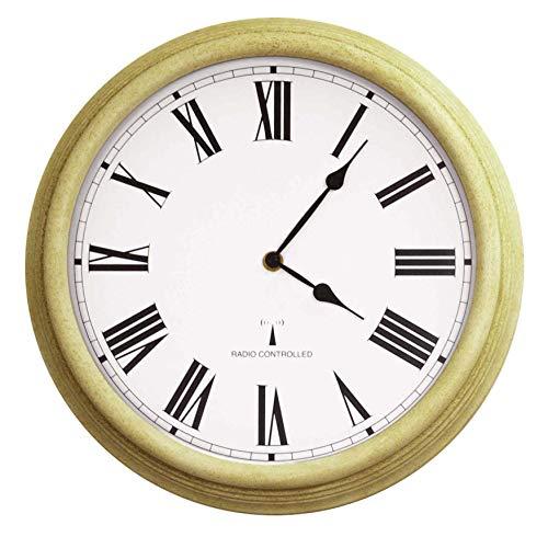 Primrose About Time™ Funkuhr für den Außenbereich, weißer Antikeffekt, 38cm