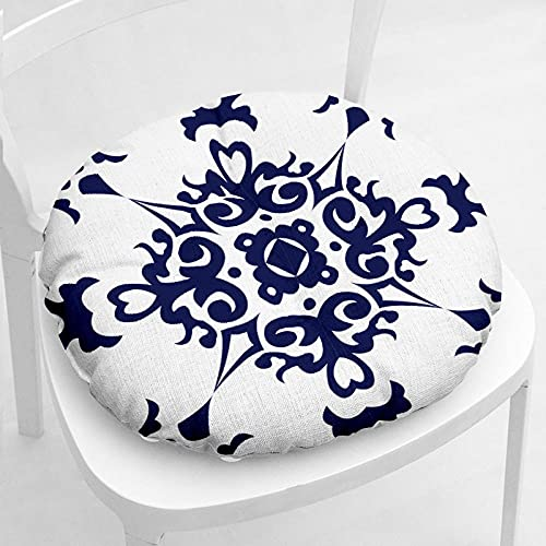 ANGANGAN Meditación Cojín Forma Redonda 40X40cm Retro Meditación Mat algodón lino cómodo salón jardín terraza estera