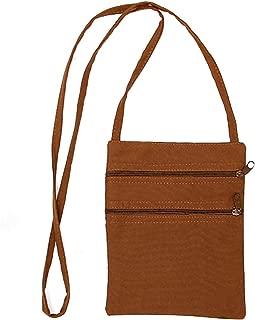 Bageek Women Shoulder Bag Casual Brown Canvas Bag Crossbody Purse Shoulder Purse