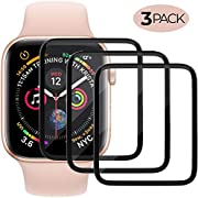 Screen Protector Compatible with Apple Watch (40mm Compatible with iWacth Series 4),HD Anti-Bubble Scratch-Resistant Guard Cover Protective Soft Screen Protector 3-Pack