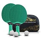 Juego de raquetas de tenis de mesa Senston, raquetas de tenis de mesa profesionales con 3 pelotas, juego de raquetas de ping pong de goma compuesta