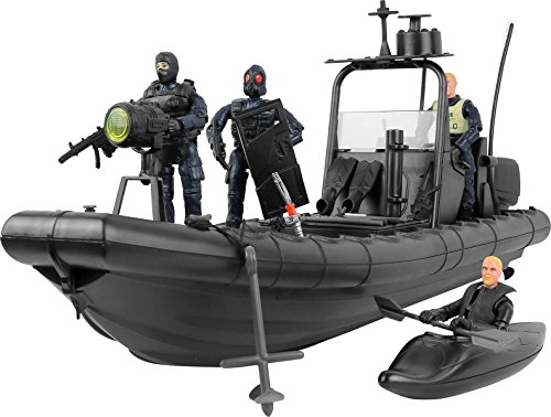 "Click N' Play Military Elite Swat Unit Force Patrol Dinghy Boat 25 Piece Play Set with Accessories. -  Click N"" Play, CNP1335"